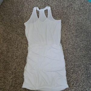 Athleta white tank dress